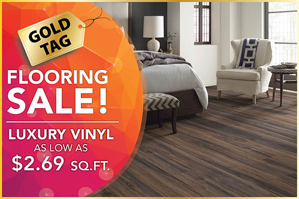 Luxury Vinyl as low as $2.69 sq.ft. during the National Gold Tag Flooring Sale this month at Abbey Carpet & Floor in Puyallup!