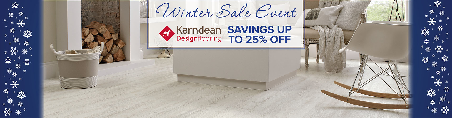 Winter Sale Event – Save up to 25% off Karndean Flooring - Only at Abbey Carpet & Floor of Puyallup, Washington